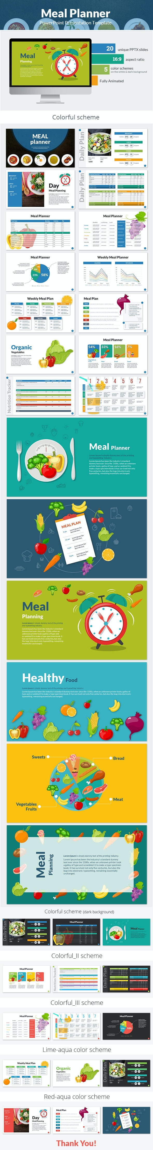 Meal Planner PowerPoint Presentation Template - PowerPoint Templates Presentation Templates