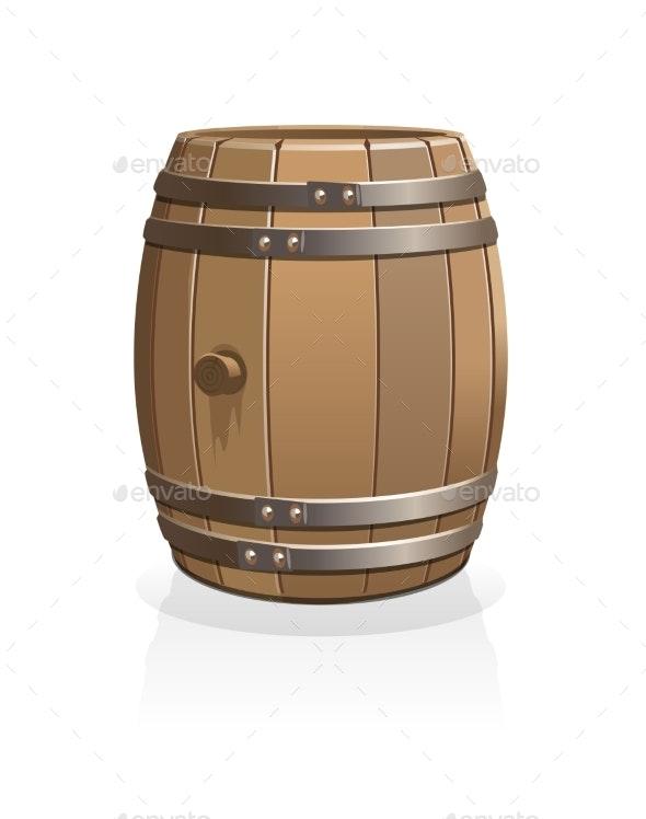 Vector Wooden Barrel - Miscellaneous Vectors
