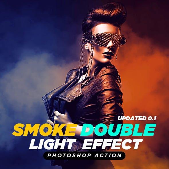 Smoke Double Light Photoshop Effect Action Updated 0.1