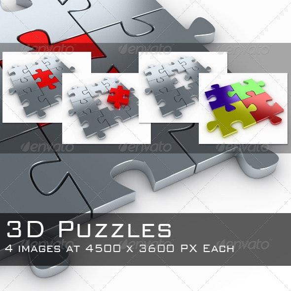 Puzzles Bundle Pack - 3D Renders Graphics