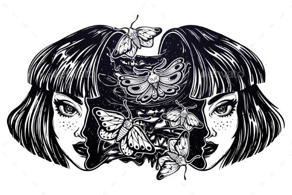 Girl with a Head Full of Goo, Moth Butterflies.