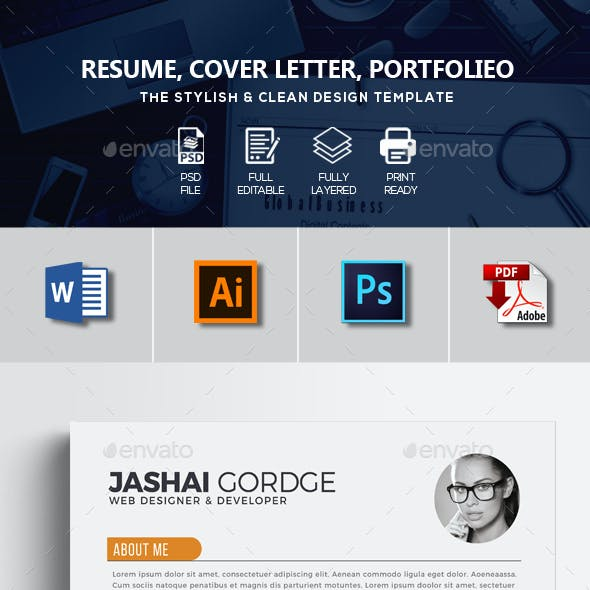 Job Resume CV Word Template