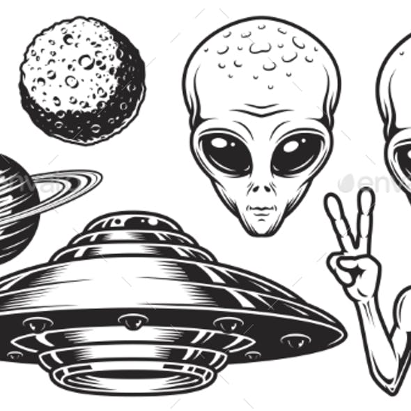 Aliens and Ufo Set