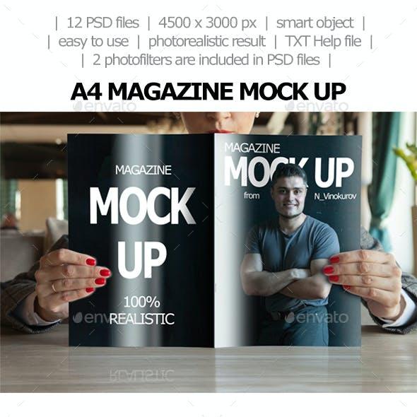 A4 Magazine Mock up