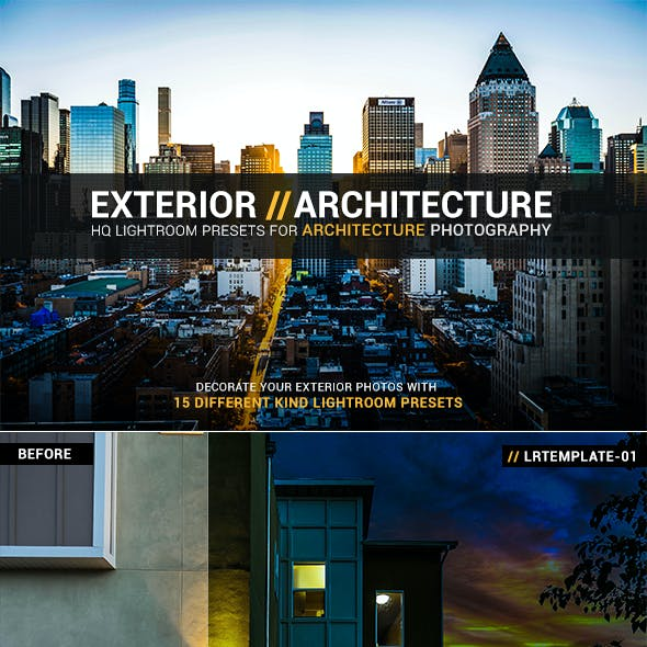 15 Exterior Architecture Lightroom Presets