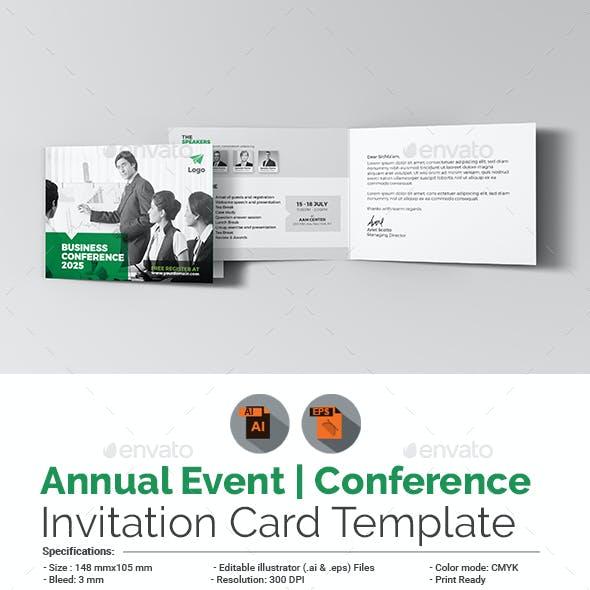 Annual Event / Conference Invitation Card