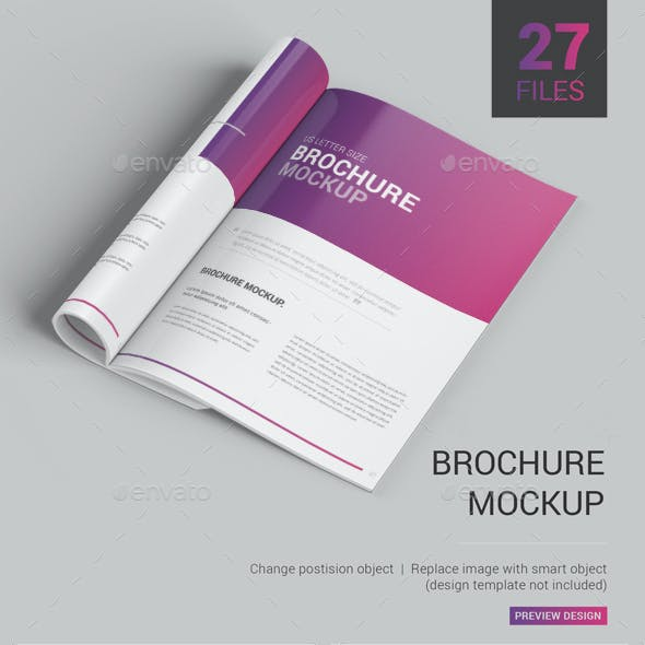 Brochure Mockup / Magazine Mockup