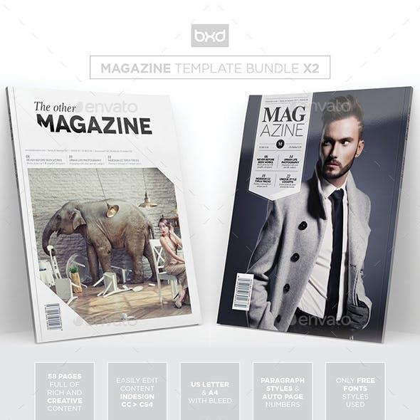 Magazine Template Bundle - InDesign Layout V6