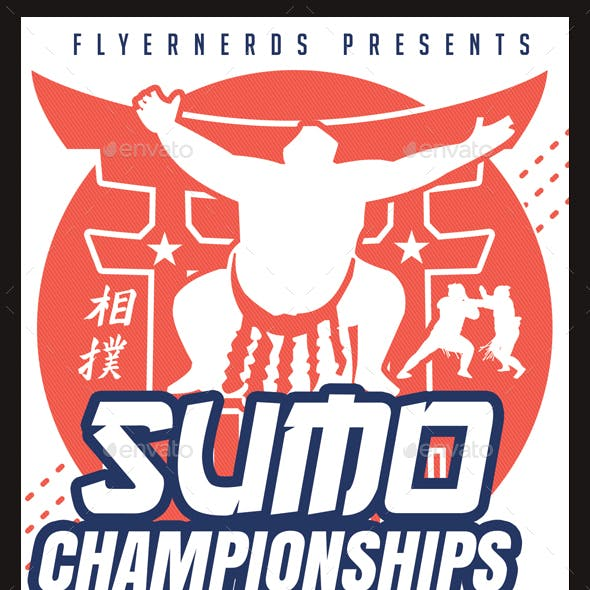 Sumo 2018 Championships Sports Flyer