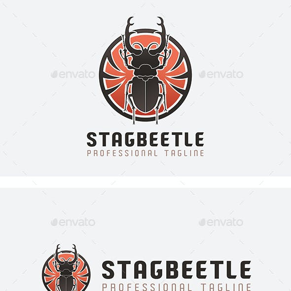 Stag Beetle Logo