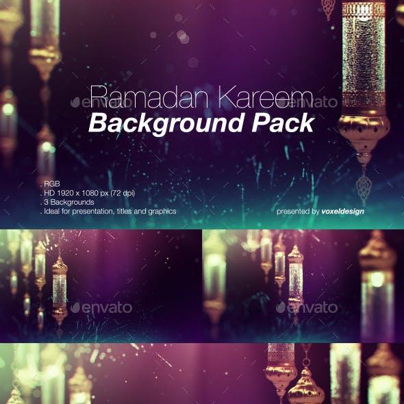 Ramadan Background Pack