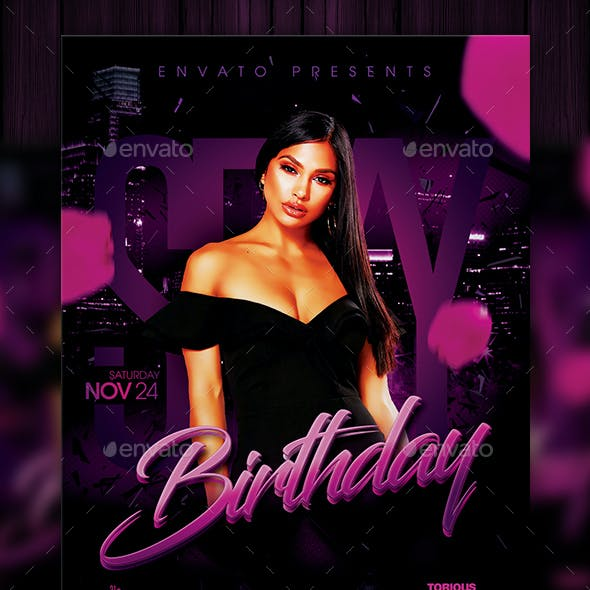 Sexy Birthday Flyer Template