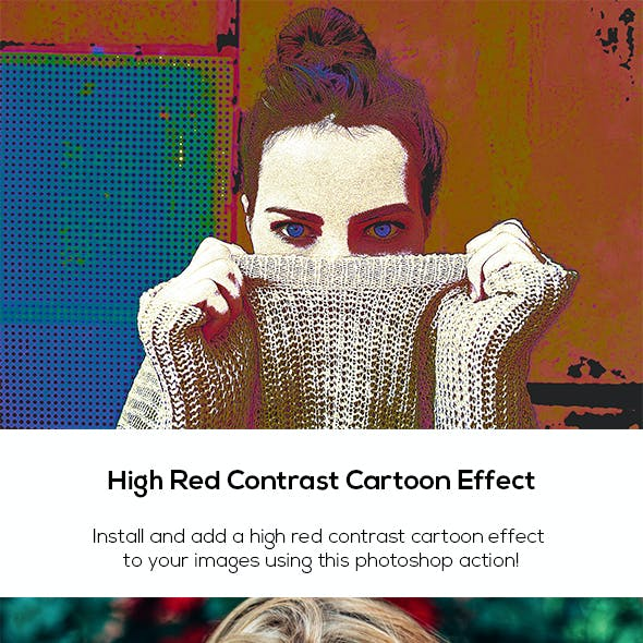 High Red Contrast Cartoon Effect