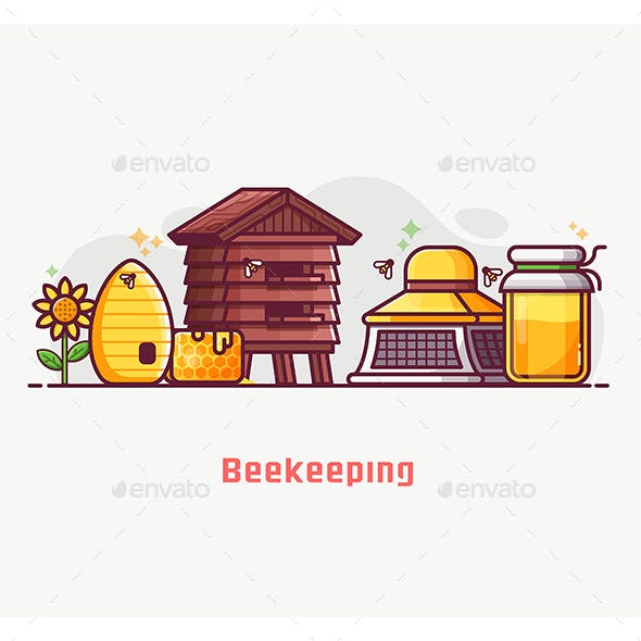 Beekeeper Equipment and Lifestyle Banner