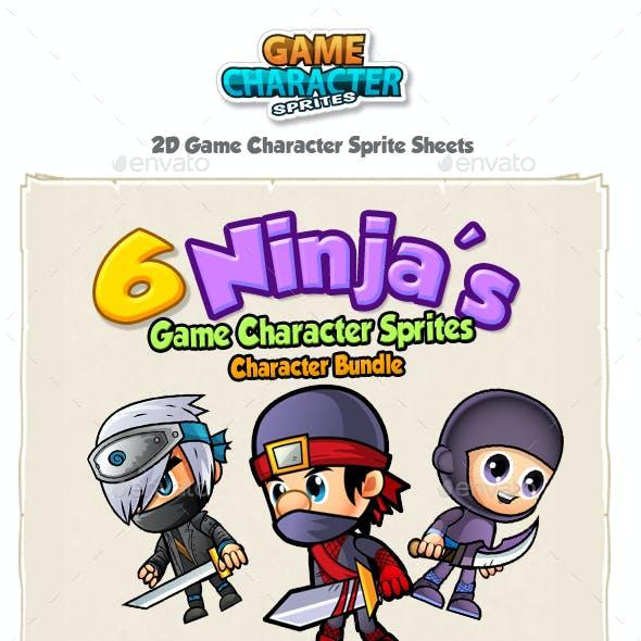 Ninja Characters Sprites Bundle