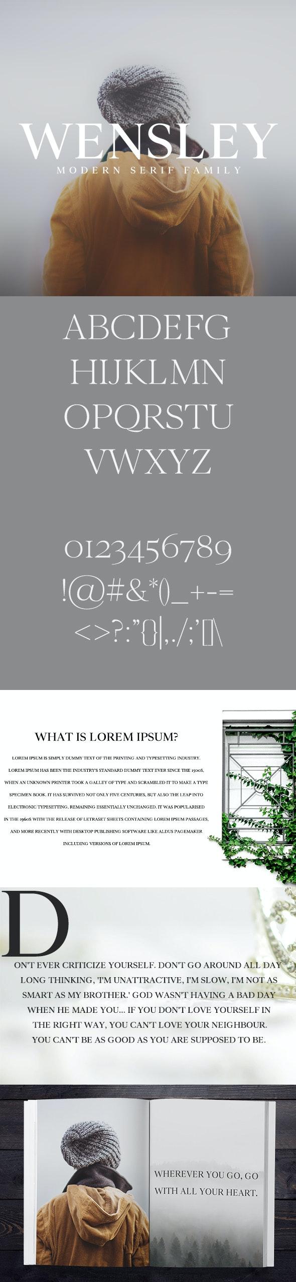 Wensley Modern Serif Font Family - Serif Fonts