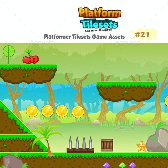 Forest Platformer  Game  Tilesets 21