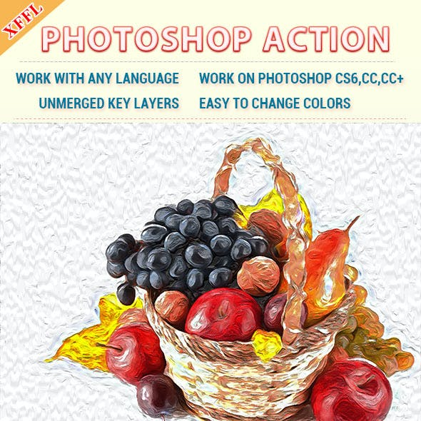 Abstract Oil Painting Photoshop Action