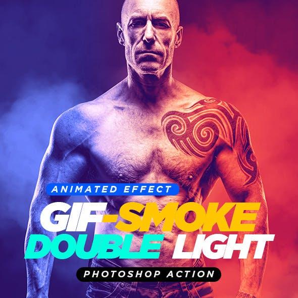 Gif Animated Smoke Double Lighting Photoshop Action