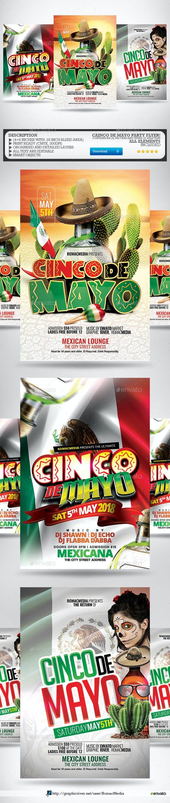 Cinco De Mayo Flyer Bundle