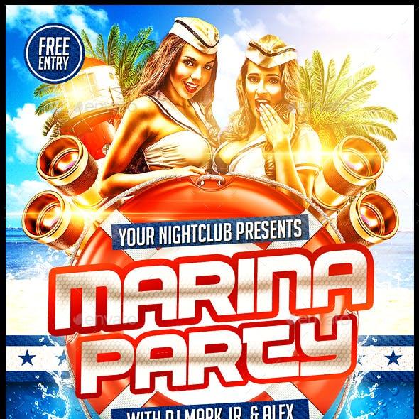 Marina Party Flyer