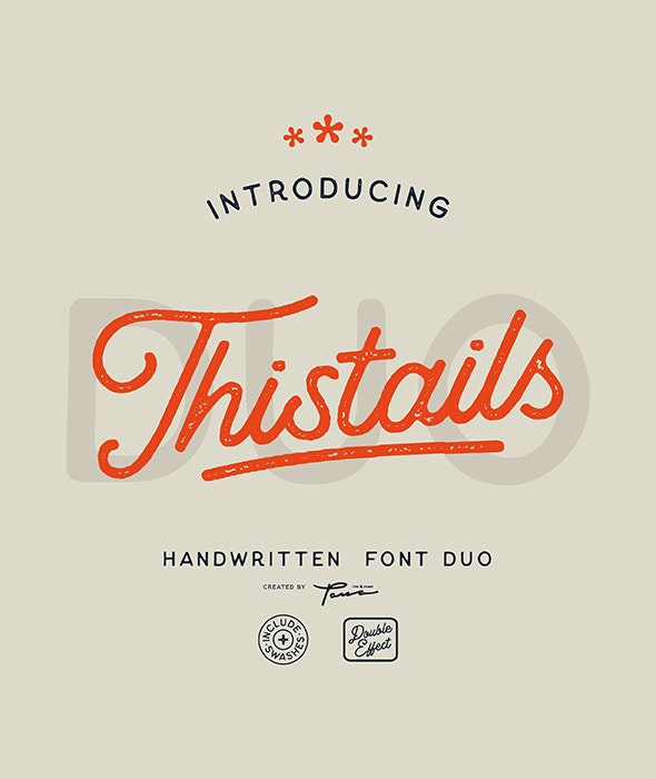 Thistails Font Duo - Handwriting Fonts