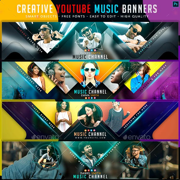 Creative Music YouTube Banners