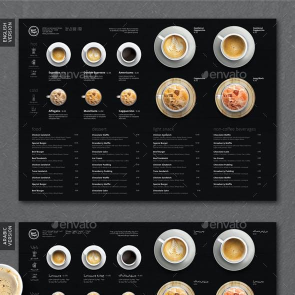 Minimalist Photography Coffee Menu A3