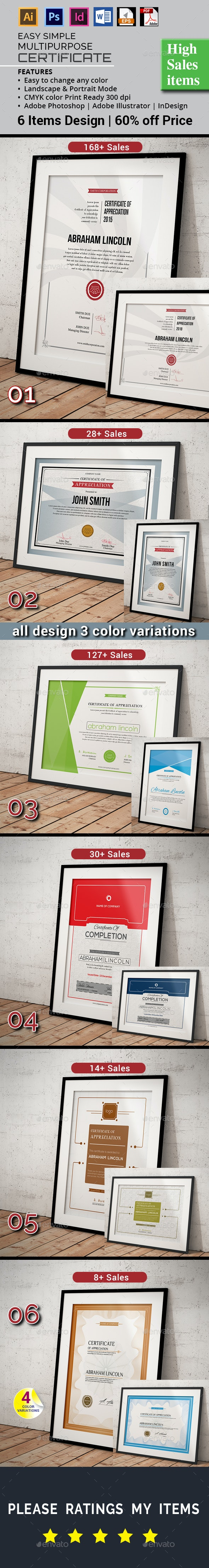 Bundle Certificate Offer - Certificates Stationery
