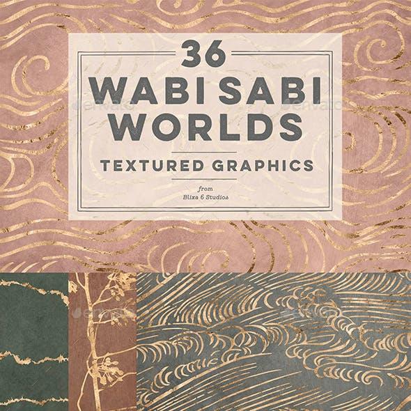 36 Wabi Sabi Worlds of Golden Graphics and Textures