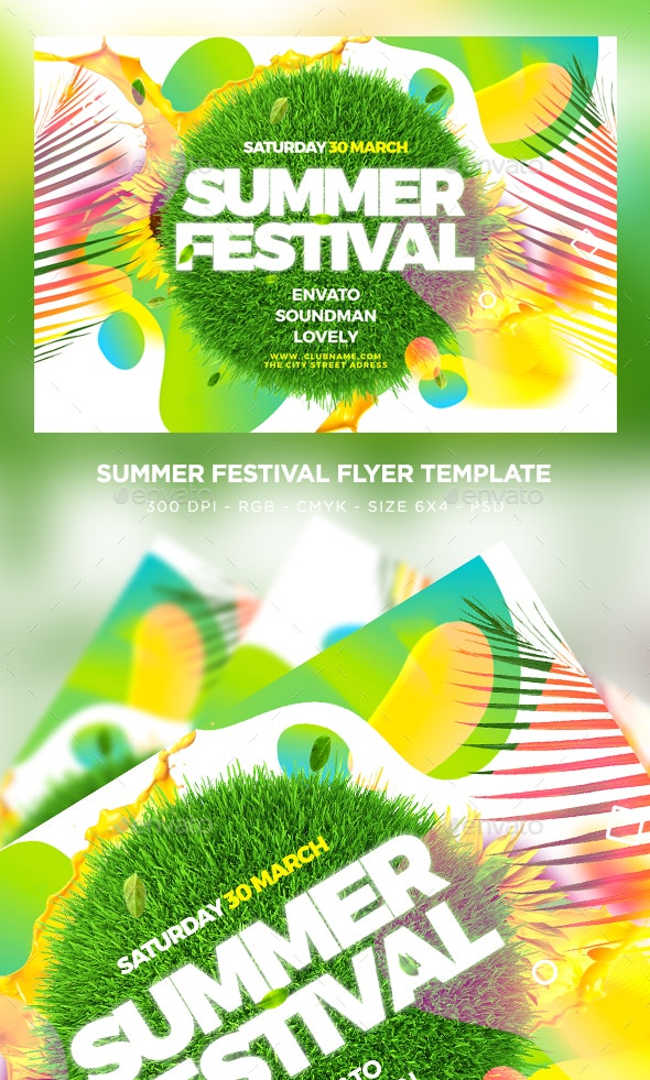 Summer Flyer - Clubs & Parties Events