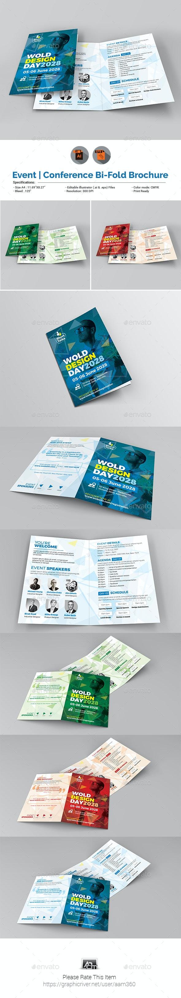 Conference Bifold Brochure Template - Corporate Brochures