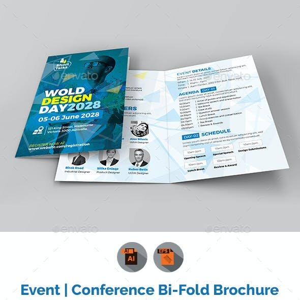 Conference Bifold Brochure Template