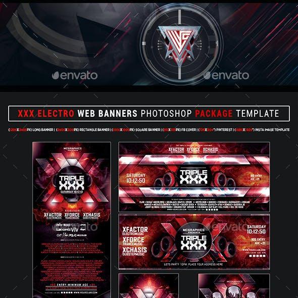 XXX Electro WEB Banners Photoshop Templates
