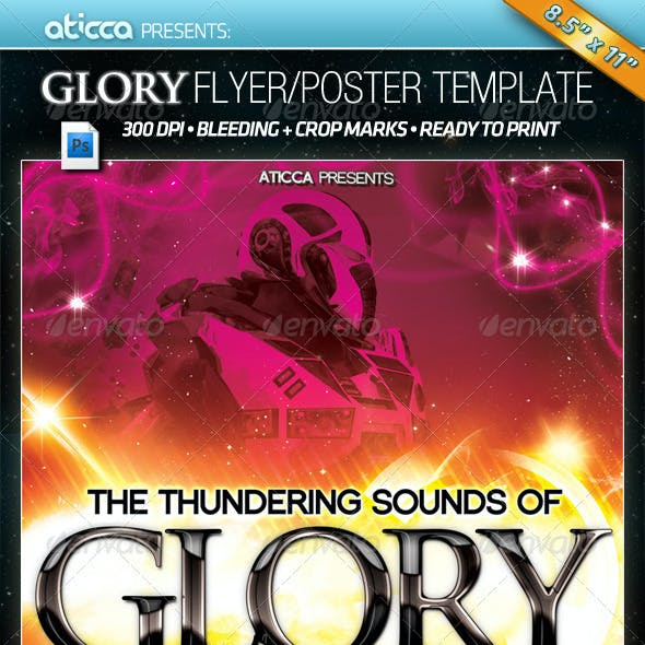 Glory - Flyer & Poster PSD template
