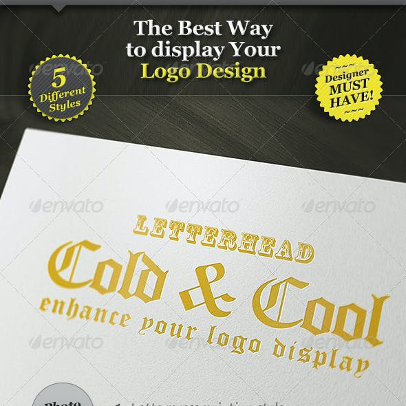 5 Realistic Logo Mockups - Smart Template Display