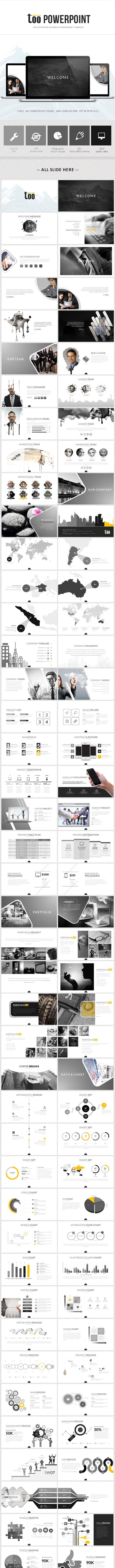Too Powerpoint Template - Business PowerPoint Templates