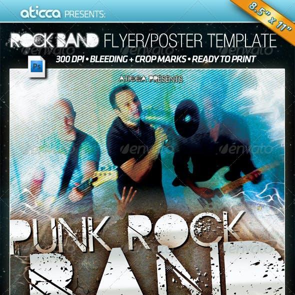 Punk Rock Band - Flyer & Poster PSD Template