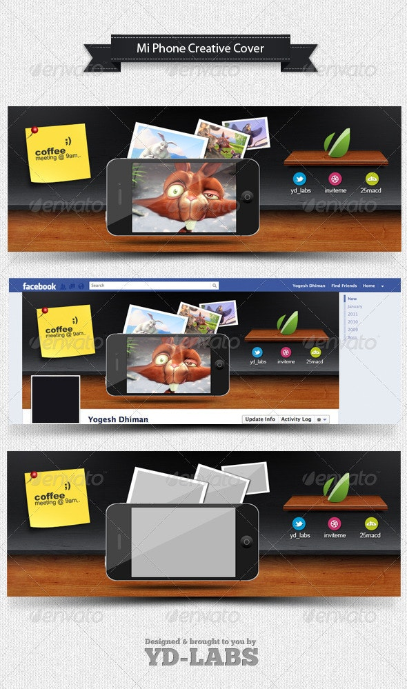 Mi Phone Creative Cover - Facebook Timeline Covers Social Media