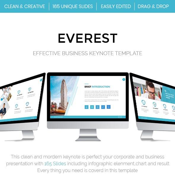 Everest - Effective Business Keynote Template 2018