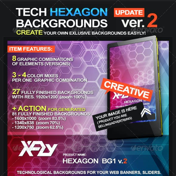 Tech Hexagon backgrounds