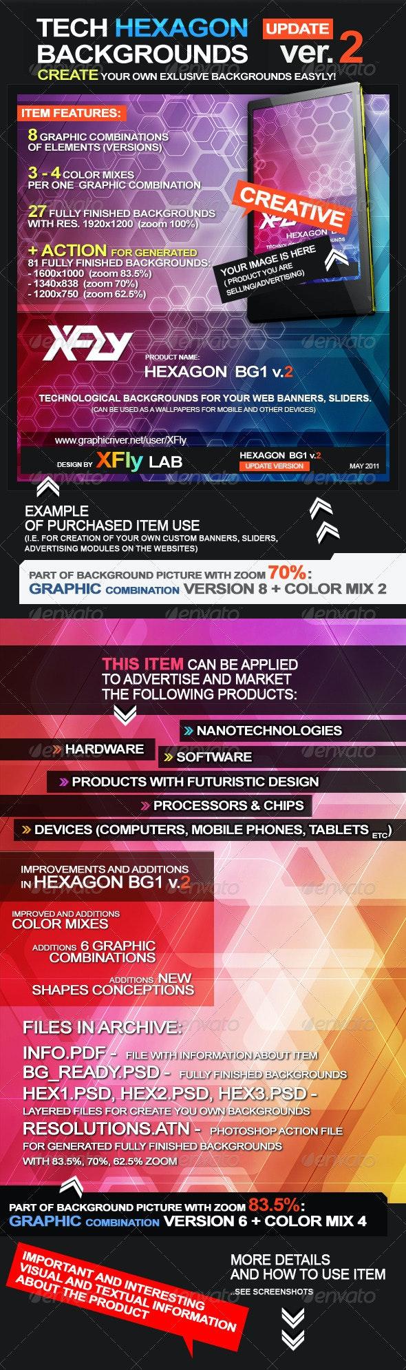 Tech Hexagon backgrounds - Tech / Futuristic Backgrounds