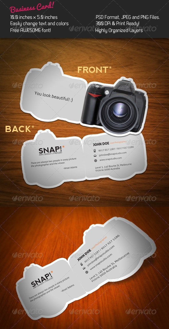 SNAP! Business Card - Industry Specific Business Cards