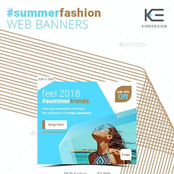 Summer Fashion Web Banners