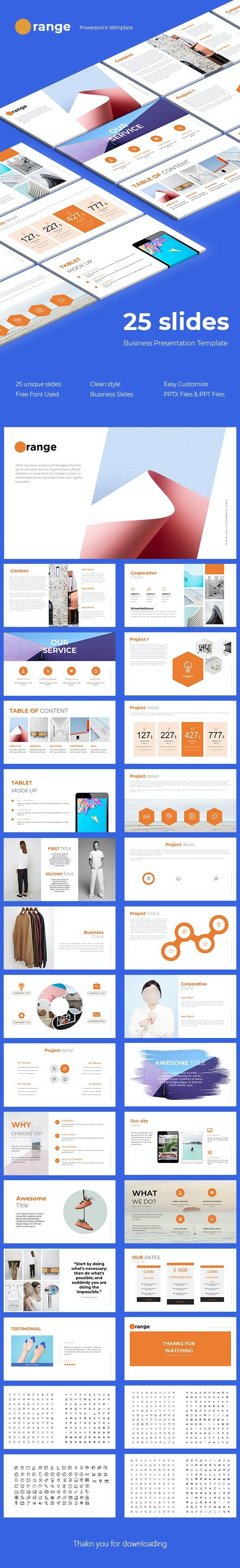 Orange Powerpoint Template - Business PowerPoint Templates