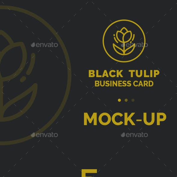 Black Tulip Mock-Up