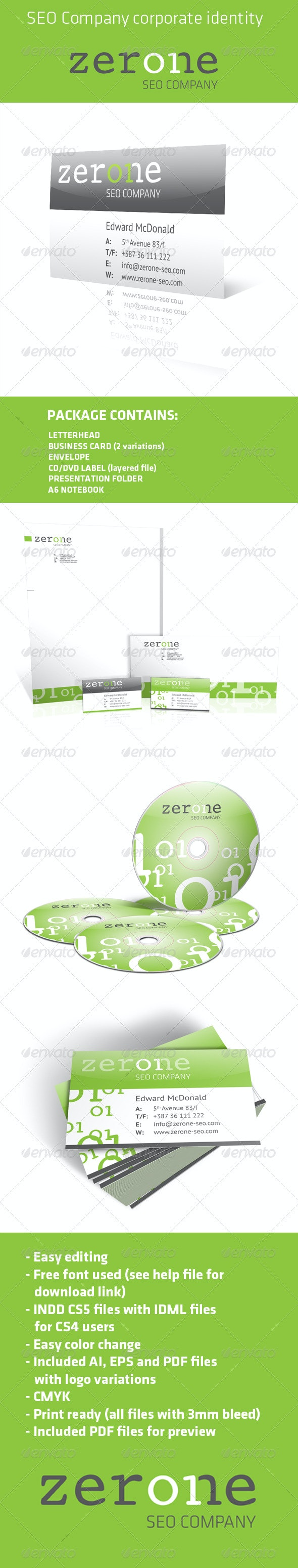 SEO Corporate identity pack - Stationery Print Templates