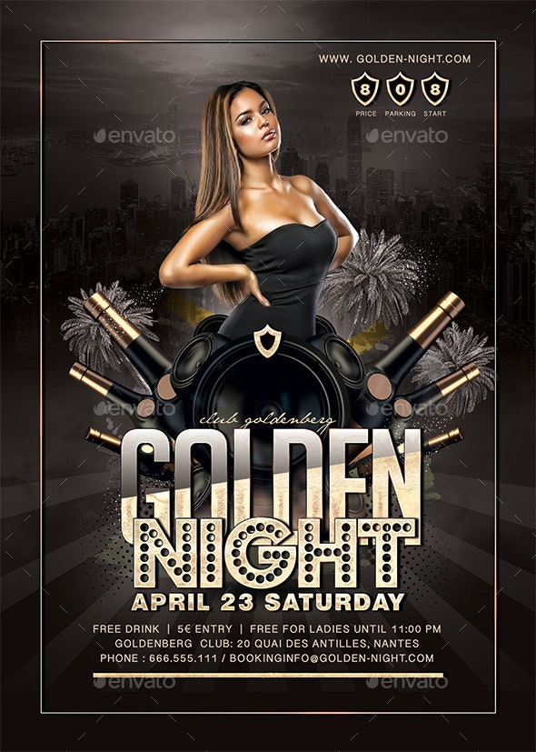 Golden Night Party - Clubs & Parties Events