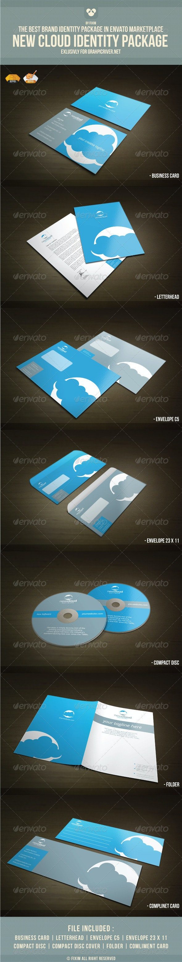 NewCloud Identity Package - Stationery Print Templates