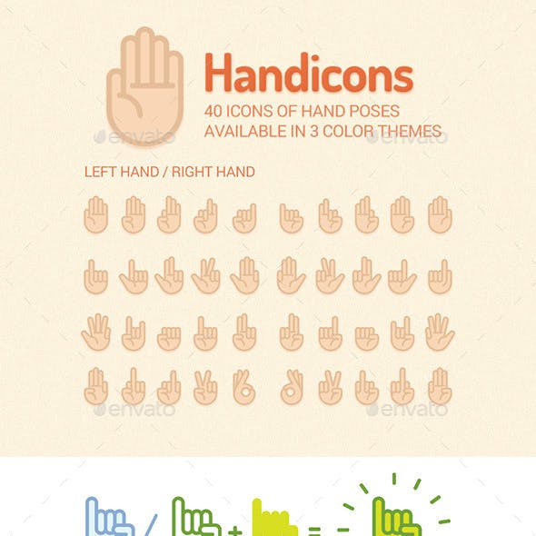 Simple Hand Icons